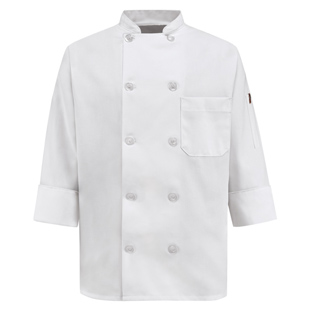 Womens 10 Pearl Button Chef Coat - Click for Large View