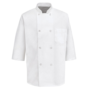 8 Button Half Length Sleeve Chef Coats - Click for Large View