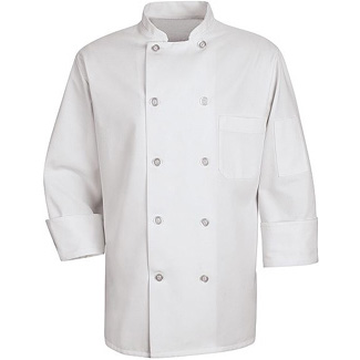 10 Button Unisex Chef Coats - Click for Large View