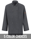 Women's Chef Coat with Mimix and OilBlok