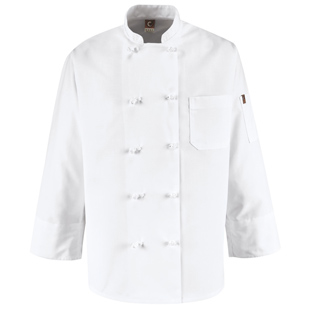 Ten Knot Button Chef Coat - Click for Large View