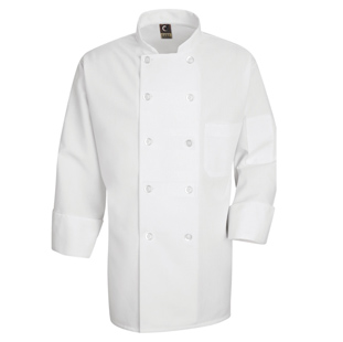 Spun Polyester Unisex Chef Coat - Click for Large View