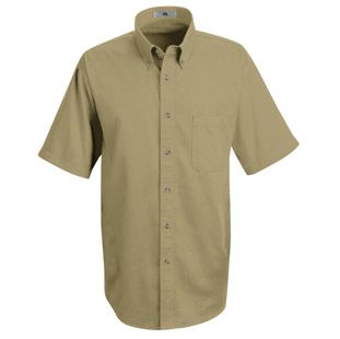 Lee Mens Meridian Performance Short Sleeve Twill Shirt - Click for Large View