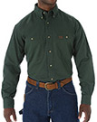 Wrangler Riggs Workwear Long Sleeve Button Down Solid Twill Work Shirt