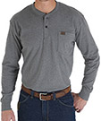 Wrangler Riggs Workwear Long Sleeve Solid Henley