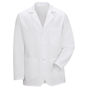 Unisex Basic White Counter Coat - Click for Large View