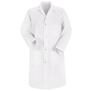 Red Kap Mens Basic White Lab Coats - Click for Large View