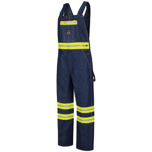 Enhanced Visibility Denim Bib Overall - Click for Large View