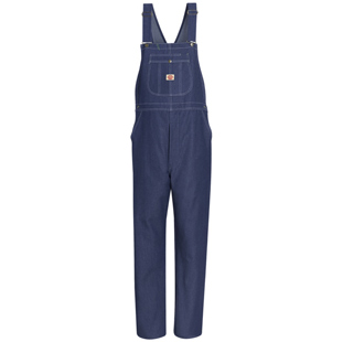 Red Kap High Back Bib Denim Overalls - Click for Large View