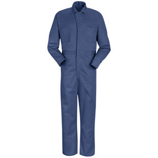 Red Kap Snap Front Cotton Coveralls - Click for Large View