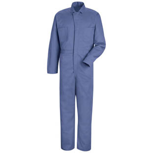 Red Kap Button Front Cotton Coveralls - Click for Large View