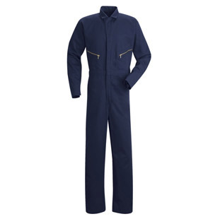 Red Kap Mens Zip-Front Cotton Coverall - Click for Large View