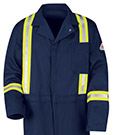 Flame Resistant Excel-FR Cotton Classic Coveralls with Reflective Trim