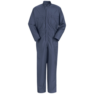 Paint Operations Anti-Static Navy Blue Coveralls - Click for Large View