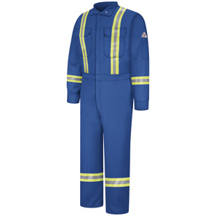Flame Resistant Comfortouch Coverall with Reflective Trim - Click for Large View