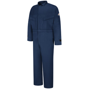 Flame Resistant Excel-FR Deluxe Comfortouch Coverall with Leg Zipper and Suppression Tabs - Click for Large View