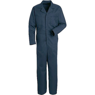 Red Kap Long Sleeve Navy Blue Jumpsuit - Click for Large View