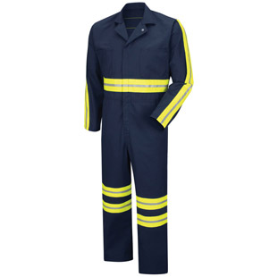 Enhanced Visibility Action Back Coverall - Click for Large View