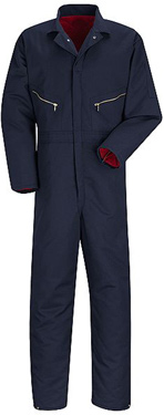 Red Kap Insulated Navy Blue Twill Coveralls - Click for Large View