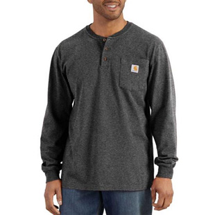 Carhartt Long Sleeve Henley T-Shirt - Click for Large View