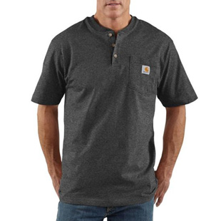 Carhartt Short Sleeve Henley T-Shirt - Click for Large View