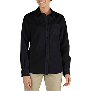 Dickies Long Sleeve Stretch Poplin Shirt - Click for Large View