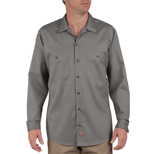 Dickies Long Sleeve Industrial Patterned Shirt - Click for Large View