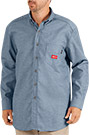 Dickies Flame Resistant Long Sleeve Chambray Shirt