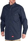 Dickies Flame Resistant Long Sleeve Twill Button-Down Shirt