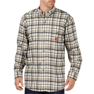 Dickies Flame Resistant Long Sleeve Plaid Shirt - Click for Large View
