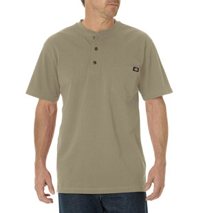 Dickies Short Sleeve Heavyweight Henley - Click for Large View