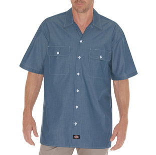 Dickies Short Sleeve Chambray Shirt - Click for Large View