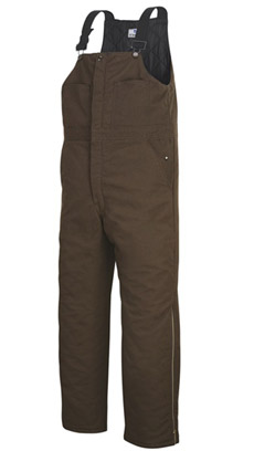 Unisex Land Management Brown Insulated Bib Overall - Click for Large View