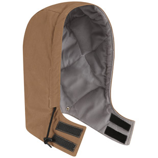 Flame Resistant Uni Fit Snap On Insulated Brown Duck Hood - Click for Large View