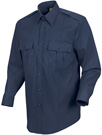 New Dimension Men's Stretch Poplin Long Sleeve Dark Navy Shirt