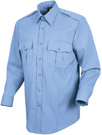 Men's Stretch Poplin Long Sleeve Light Blue Shirt
