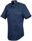 Men's Stretch Poplin Short Sleeve Dark Navy Shirt