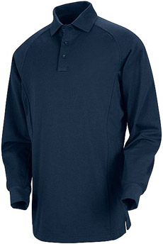 Unisex Special Ops Dark Navy Long Sleeve Polo - Click for Large View