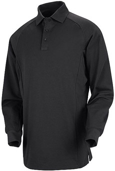 Unisex Special Ops Black Long Sleeve Polo - Click for Large View