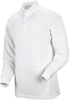 Unisex Special Ops White Long Sleeve Polo - Click for Large View