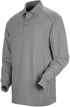 Unisex Special Ops Grey Long Sleeve Polo - Click for Large View