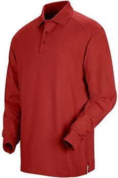 Unisex Special Ops Red Long Sleeve Polo - Click for Large View