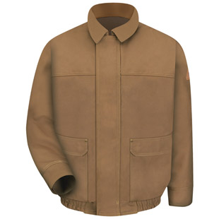 Flame Resistant Brown Duck Bomber Jacket - Click for Large View