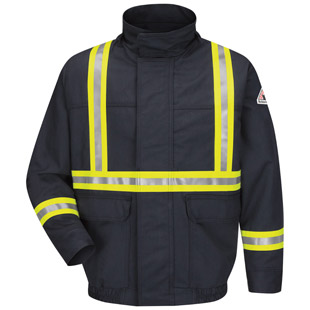 Flame Resistant Excel-FR Comfortouch Lined Bomber Jacket with CSA Reflective Trim - Click for Large View