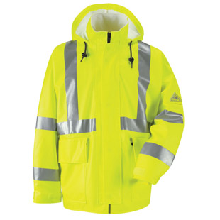 Flame Resistant Hi-Visibility Rain Jacket HRC2 - Click for Large View