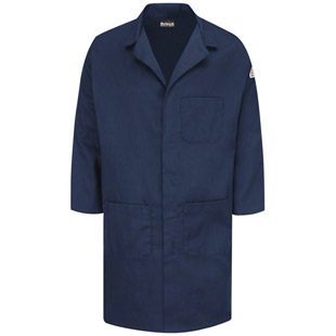 Flame Resistant Concealed Snap-Front Lab Coat - Click for Large View