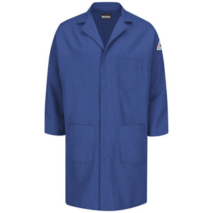 Flame Resistant Nomex Concealed Snap-Front Lab Coat - Click for Large View