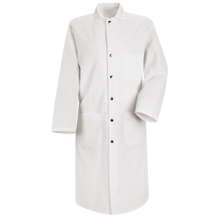 Snap-Front Spun Poly Butcher Coat - Click for Large View
