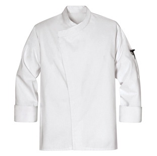 Unisex Tunic Style White Chef Coats - Click for Large View