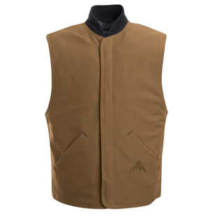 Flame Resistant  Brown Duck Vest Jacket Liner - Click for Large View